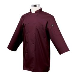 Chef Works - JLCL-MER - Cool Vent Merlot 3/4 Sleeve Coat (S) image