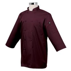 Chef Works - JLCL-MER - (XS) Merlot 3/4 Sleeve Coat image