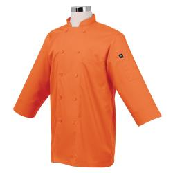 Chef Works - JLCL-ORA - (M) Orange 3/4 Sleeve Coat image