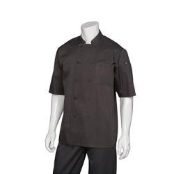Chef Works - JLCV-BLK-L - Montreal Black Chef Coat (L) image