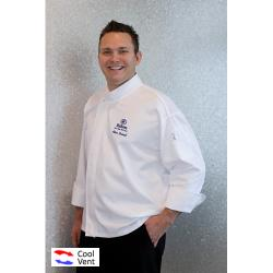 Chef Works - PCDF-XL - Tours Chef Coat (XL) image
