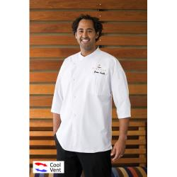 Chef Works - SI34-WWT-3XL - Positano Chef Coat (3XL) image