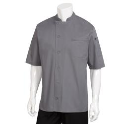 Chef Works - VSSS-GBC-2XL - 2XL Gray Valais V-Series Chef Coat image