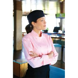 Chef Works - CWLJ-PIN-2XL - Women's Marbella Pink Chef Coat (2XL) image