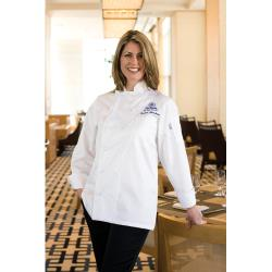 Chef Works - ECLA-L - Women's Elyse Chef Coat (L) image