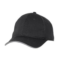 Chef Works - BCCT-GRY - Cool Vent Black/Gray Baseball Cap  image