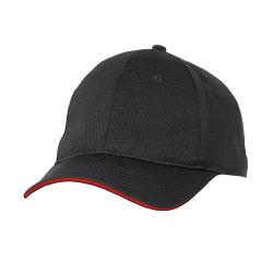 Chef Works - BCCT-RED - Cool Vent Black/Red Baseball Cap  image