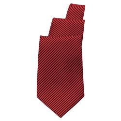 Chef Works - TPAS-BLR - Black/Burgundy Stripe Tie image