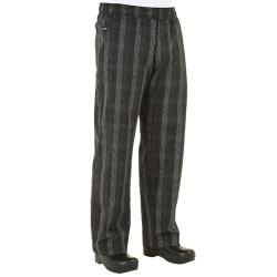 Chef Works - BPLD-BLK-S - Black Plaid Chef Pants (S) image