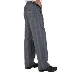 Chef Works - BPLD-GRY-S - Gray Plaid Chef Pants (S) image