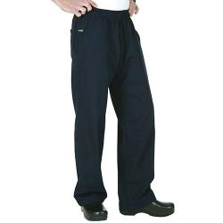 Chef Works - BSOL-NAV-4XL - Navy Chef Pants (4XL) image