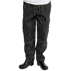 Chef Works - GSBP-4XL - Chalk Stripe Designer Chef Pants (4XL) image