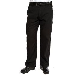 Chef Works - PSER-BLK-2XL - Black Professional Pant (2XL) image