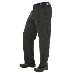 Chef Works - PSER-GST-L - Gray Stripe Professional Pant (L) image