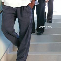 Chef Works - UPEW-SMO-L - Smoke Gray Enzyme Utility Pants (L) image