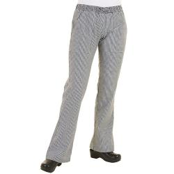 Chef Works - WBAW-L - Women's Checked Chef Pants (L) image