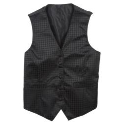 Chef Works - VPW5-BK3-L - Women's Black Polka Dot Vest (L) image