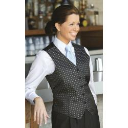 Chef Works - VPW5-BK4-XL - Women's Blue Dot Vest (XL) image