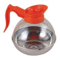 Update International - CD-8890/OR - 64 oz Coffee Decanter with Orange Handle image