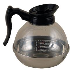 Winco  - CD-64K - 64 oz Coffee Decanter with Black Handle image