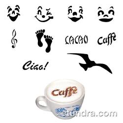 World Cuisine - 47859-02 - 10-Piece Cappuccino Fun Stencil Set image