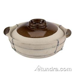 "World Cuisine - 49632-32 - 11"" Dual-Handled Clay Cooking Pot image"