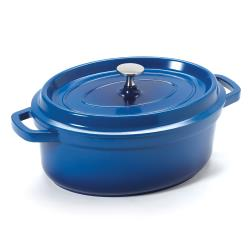 GET Enterprises - CA-009-CB/BK - 3 1/2 qt Blue Induction Ready Dutch Oven image