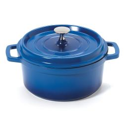 GET Enterprises - CA-011-CB/BK - 2 1/2 qt Blue Induction Ready Dutch Oven image