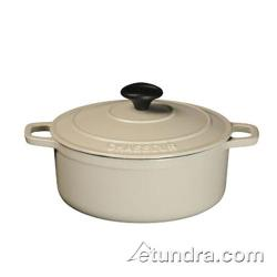World Cuisine - A1717029 - Chasseur 4 1/4 qt Meringue Cast Iron Oval Dutch Oven image