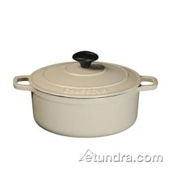 World Cuisine - A1717031 - Chasseur 5 1/2 qt Meringue Cast Iron Oval Dutch Oven image