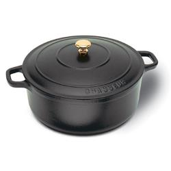 World Cuisine - A1737026 - Chasseur 5 1/2 qt Black Dutch Oven image