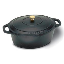 World Cuisine - A1737029 - Chasseur 4 1/4 qt Black Dutch Oven image