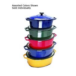 World Cuisine - A1737135 - Chasseur 8 qt Blue Oval Dutch Oven image