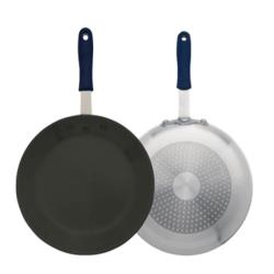 Winco - AFPI-12NH - 12 in Aluminum Non-Stick Fry Pan with Silicone Sleeve image