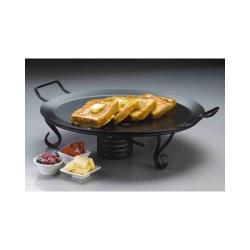 American Metalcraft - GS18 - 18 in Round Wrought Iron Griddle with Stand image