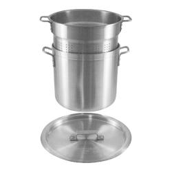Crestware - PASTA20 - 20 qt Aluminum Blanching Pot Set image