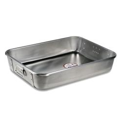 Vollrath - 68361 - 18 in x 24 in Strapped Aluminum Roasting Pan Top image