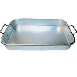 Winco - ALBP-1218 - 17 3/4 in x 11 1/2 in Aluminum Baking Pan image