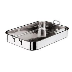 World Cuisine - 11943-45 - 11 7/8 in x 17 3/4 in Stainless Steel Roasting Pan image