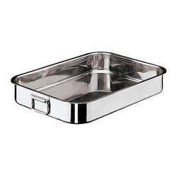 World Cuisine - 11944-40 - 10 1/4 in x 15 3/4 in Stainless Steel Roasting Pan image