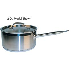 Winco - SSSP-3 - 3 1/2 qt Stainless Steel Sauce Pan image