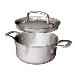 World Cuisine - 12509-12 - .7 qt Stainless Steel Mini Sauce Pot Set image