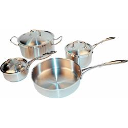Winco - SPC-7H - 7 Piece Stainless Steel Cookware Set image