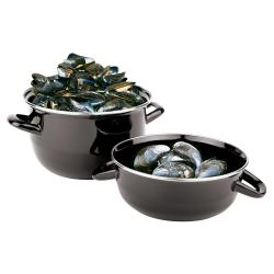 "World Cuisine - 42414-15 - 7 7/8"" Enamel Steel Mussel Pot Set image"