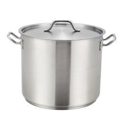 Winco - SST-32 - 32 qt Stainless Steel Stock Pot image