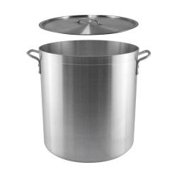 Winco  - SST-40 - 40 qt Stainless Steel Stock Pot image