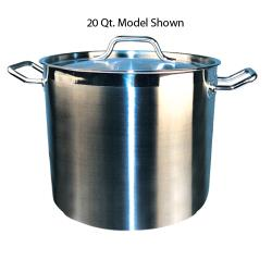 Winco - SST-80 - 80 qt Stainless Steel Stock Pot image