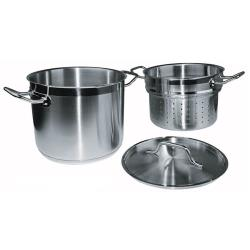 Winco - SSDB-12S - 12 qt Stainless Steel Steamer  image
