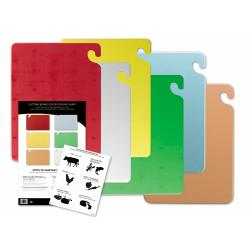 San Jamar - CB1218KC - Cut-N-Carry 6-Piece Cutting Board Set image
