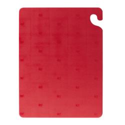 San Jamar - CB152012RD - 15 in x 20 in x 1/2 in Red Cut-N-Carry® Cutting Board image